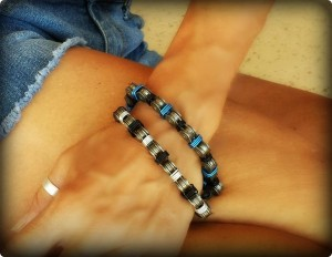 Black and Silver and Black and Blue