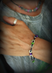 Single Link Lime and Purple